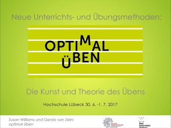 First Quality Practice Workshop in Lübeck, July 2017