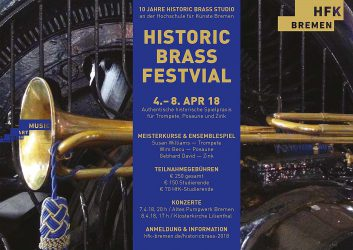 4-8 April 2018Historic Brass Festival (Bremen)